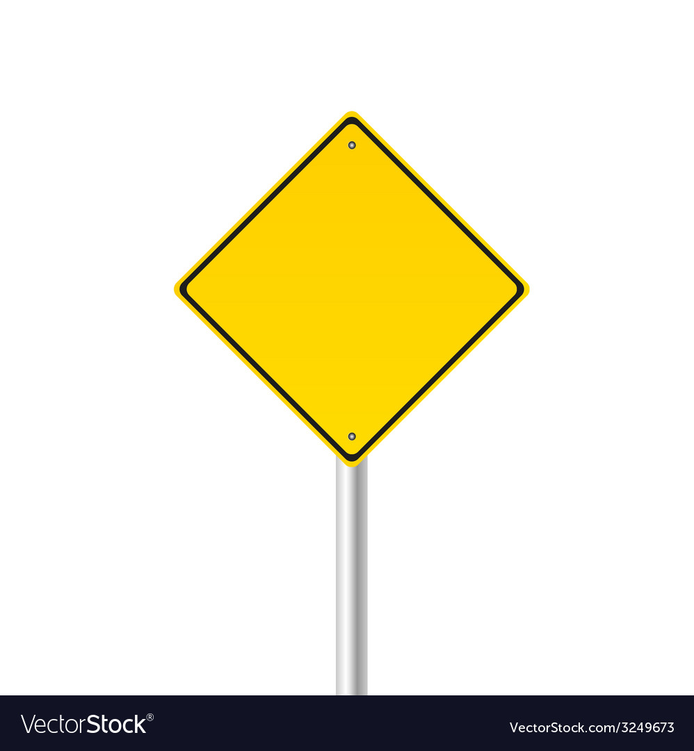 Yellow traffic sign vector | Price: 1 Credit (USD $1)