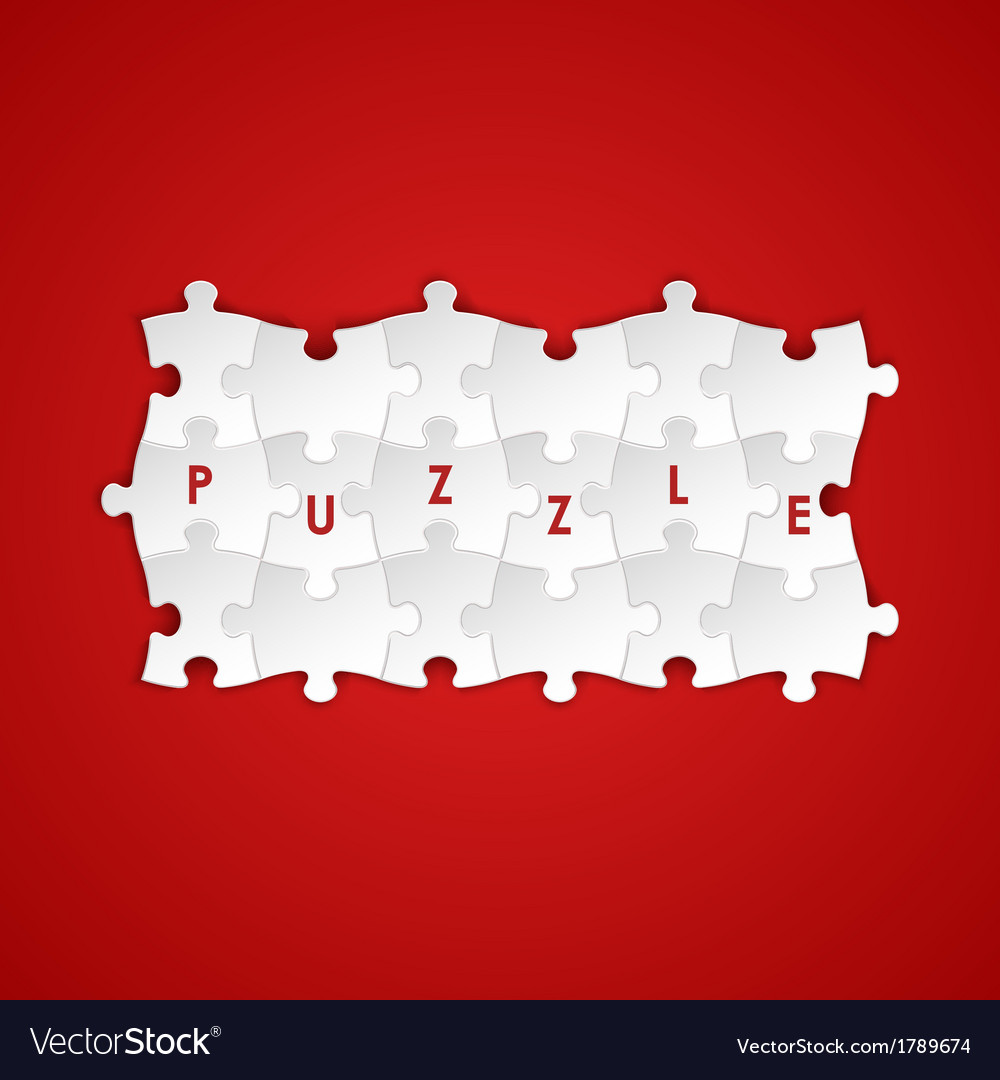 Abstract white group puzzle background vector | Price: 1 Credit (USD $1)