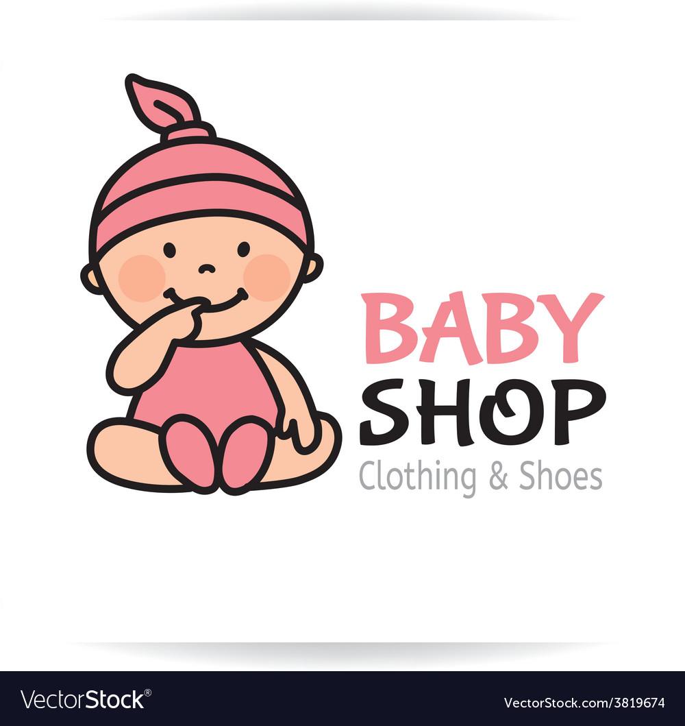 Baby shop logo vector | Price: 1 Credit (USD $1)