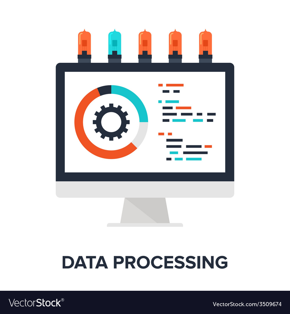 Data processing vector | Price: 1 Credit (USD $1)