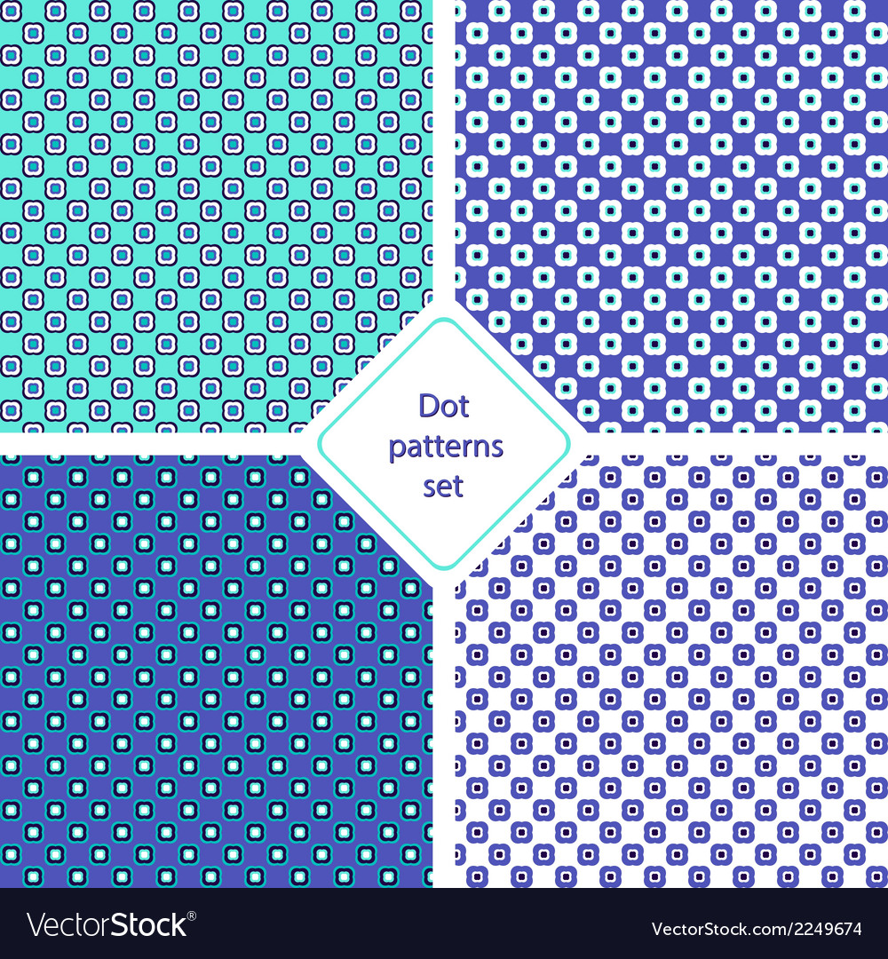 Dot patterns set vector | Price: 1 Credit (USD $1)