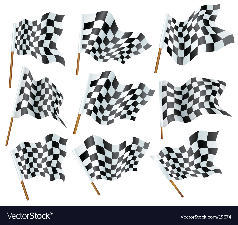 Flags formula one vector | Price: 1 Credit (USD $1)