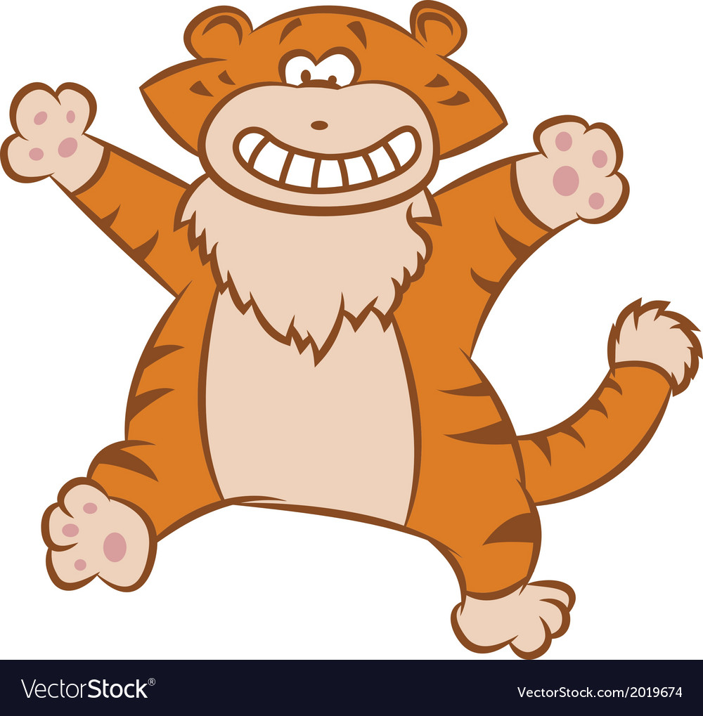 Funny tiger vector | Price: 1 Credit (USD $1)