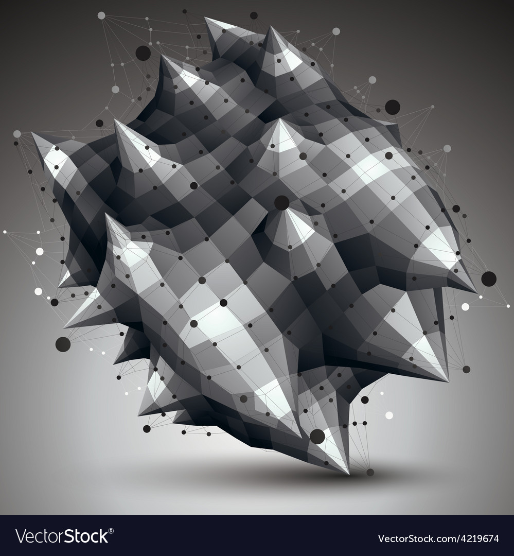 Geometric abstract 3d complicated lattice object vector   Price: 1 Credit (USD $1)