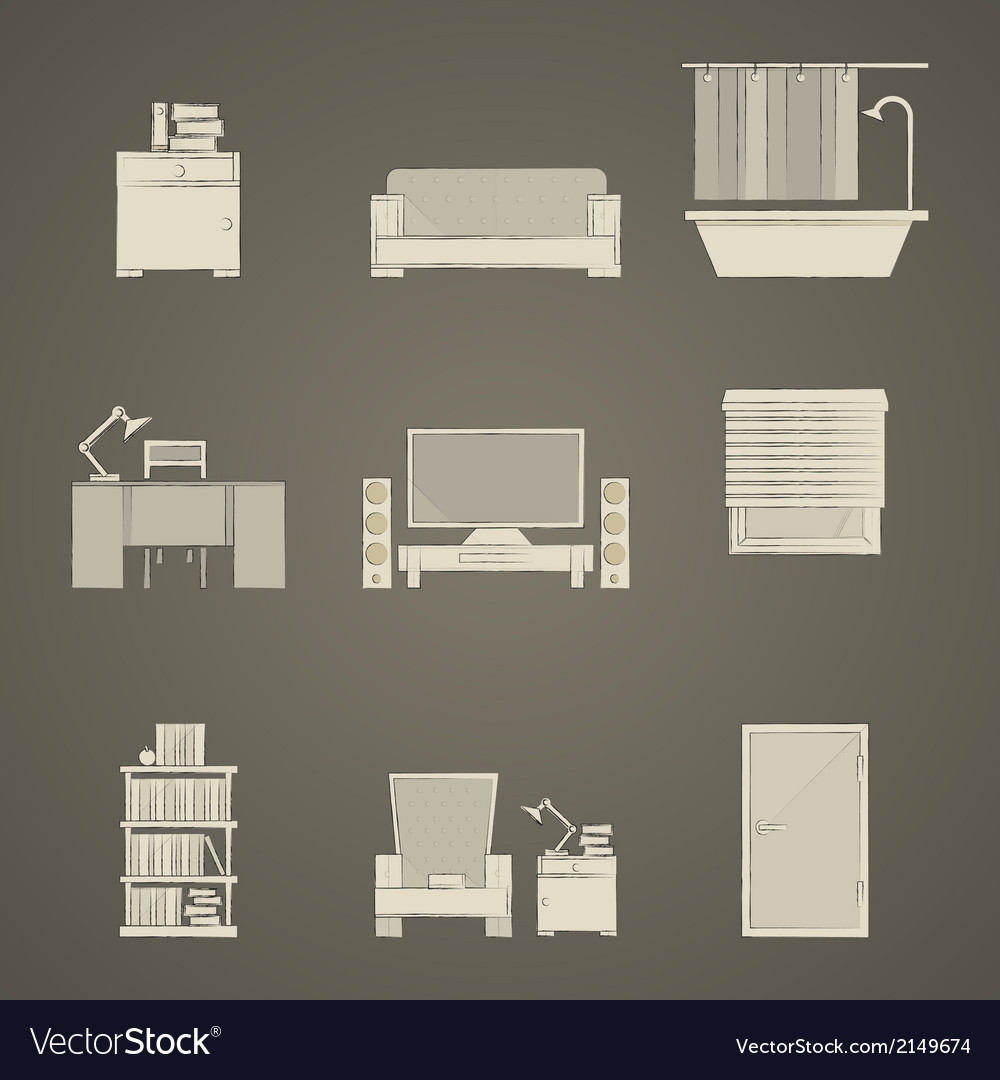 Icons for apartment vector | Price: 1 Credit (USD $1)