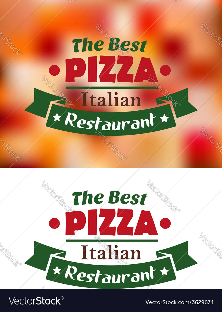 Italian pizza restaurant banner vector | Price: 1 Credit (USD $1)