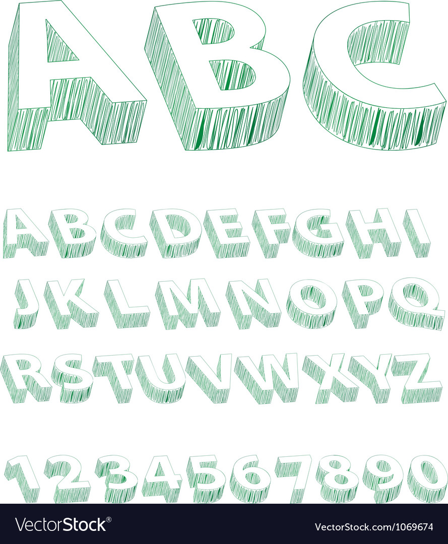 Scribble font vector | Price: 1 Credit (USD $1)