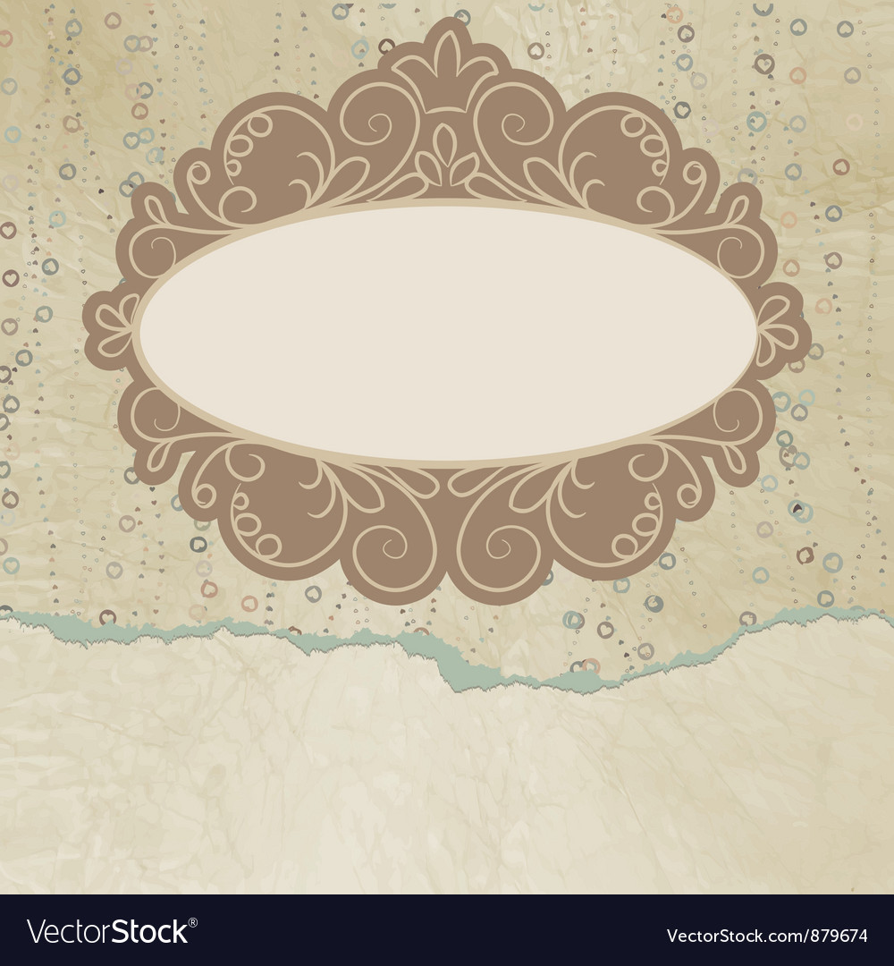 Vintage copy space card vector | Price: 1 Credit (USD $1)