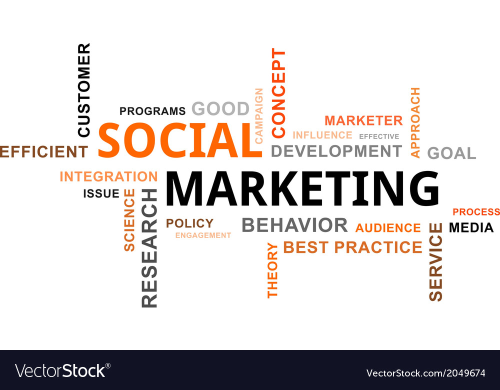 Word cloud social marketing vector | Price: 1 Credit (USD $1)