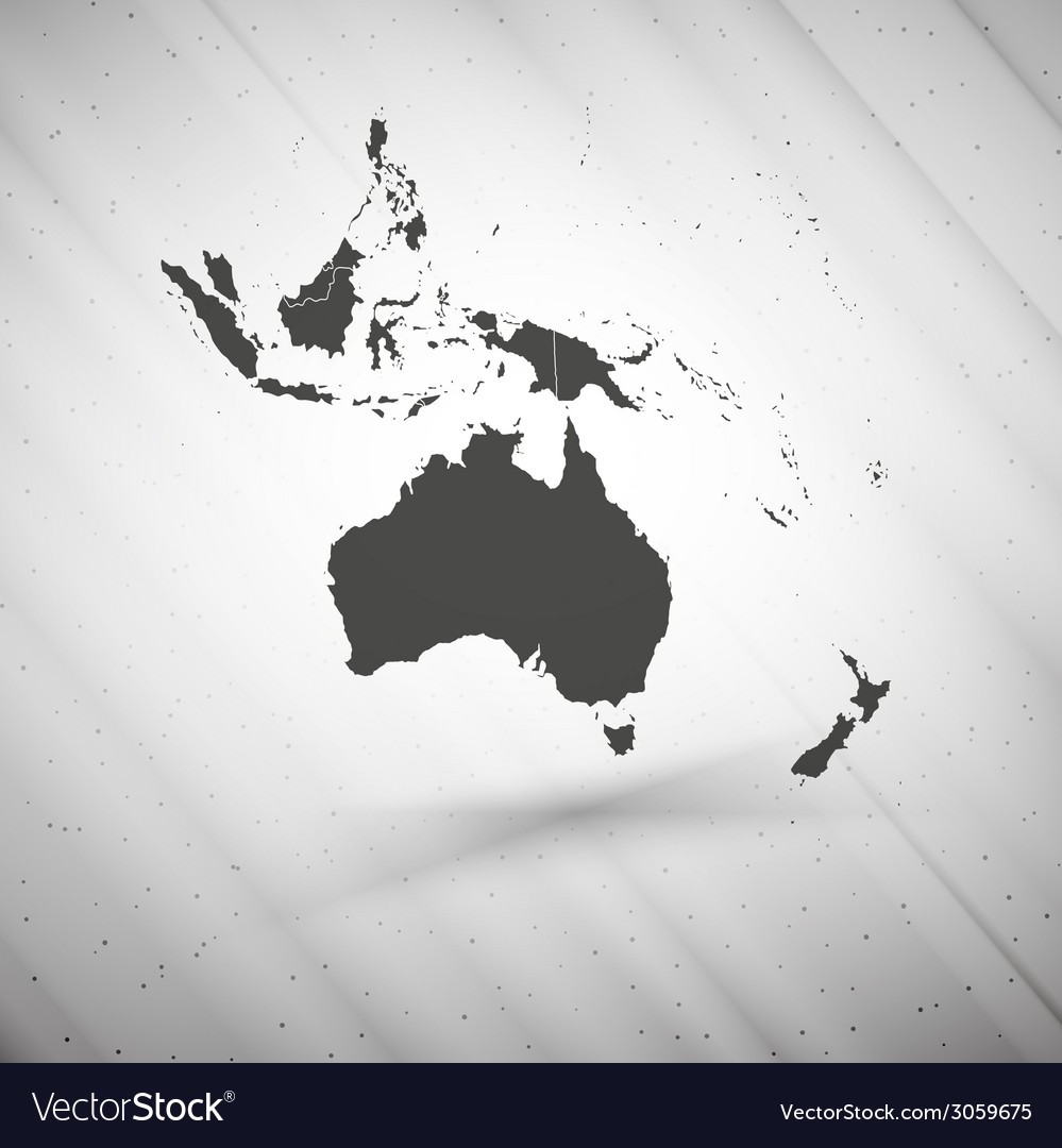 Australia map on gray background grunge texture vector | Price: 1 Credit (USD $1)