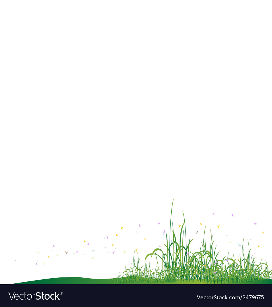 Beauty grass with butterfly vector | Price: 1 Credit (USD $1)