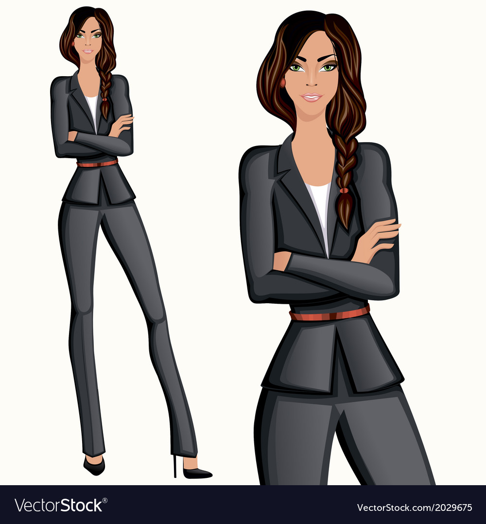 Business style attractive confident woman vector | Price: 1 Credit (USD $1)