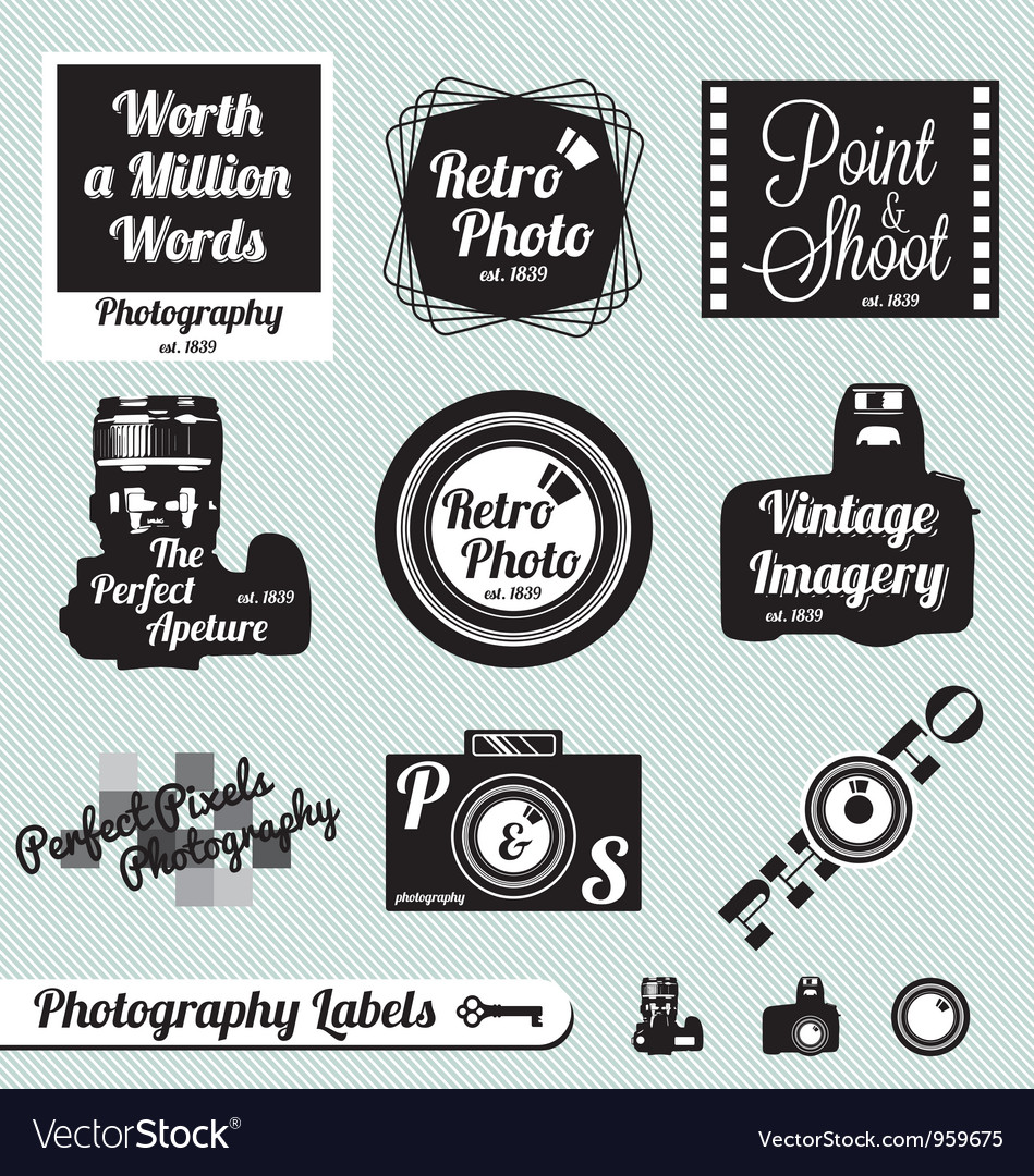 Photography labels vector | Price: 1 Credit (USD $1)