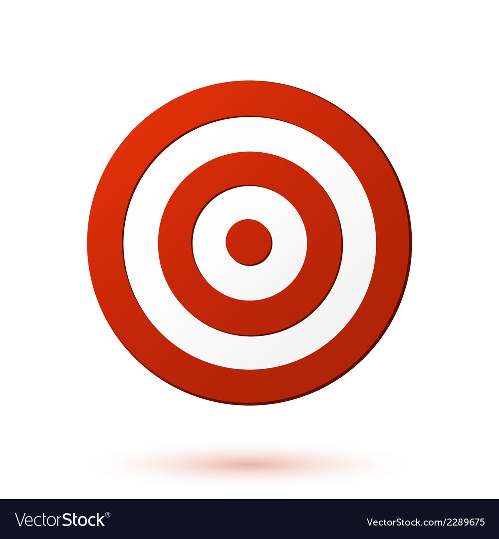 Red target icon vector | Price: 1 Credit (USD $1)