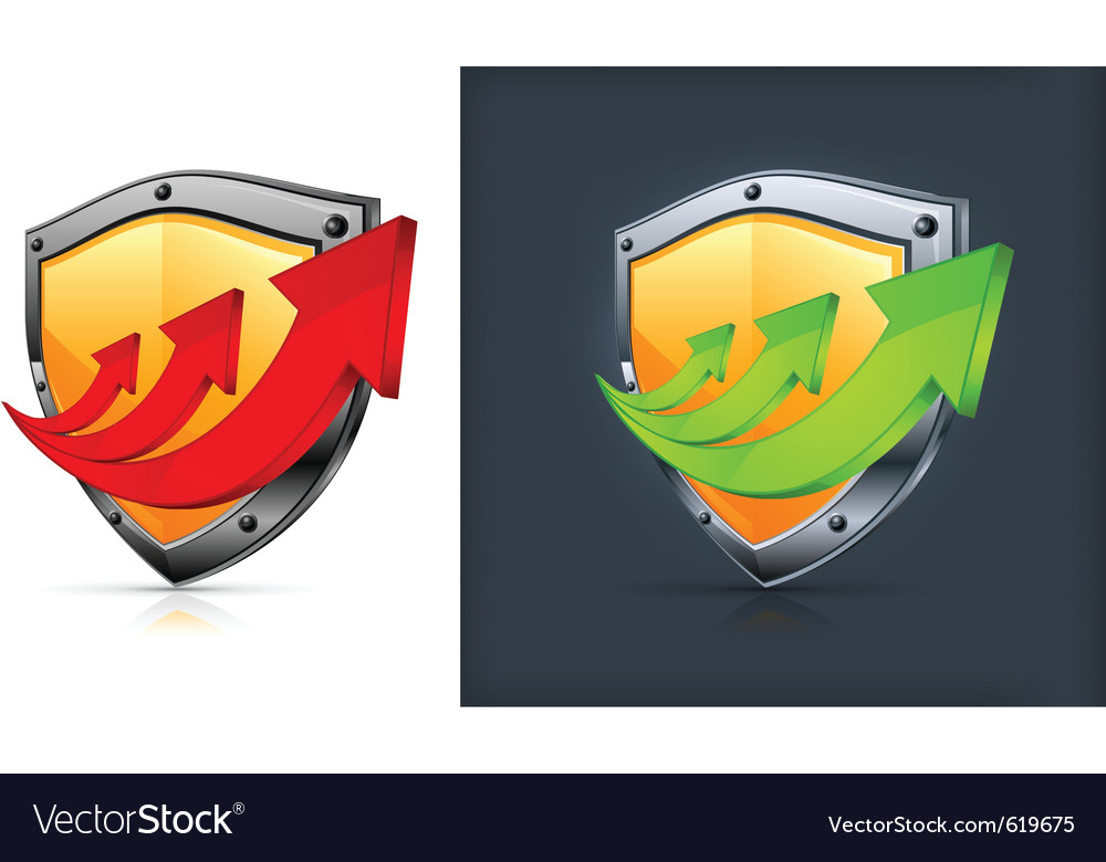 Shield security icons vector | Price: 1 Credit (USD $1)