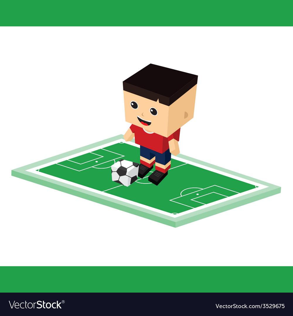Soccer cartoon boy vector | Price: 1 Credit (USD $1)