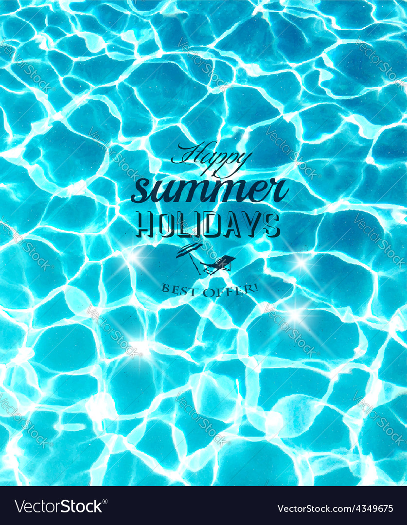 Summer holidays background with beautiful sea vector | Price: 1 Credit (USD $1)