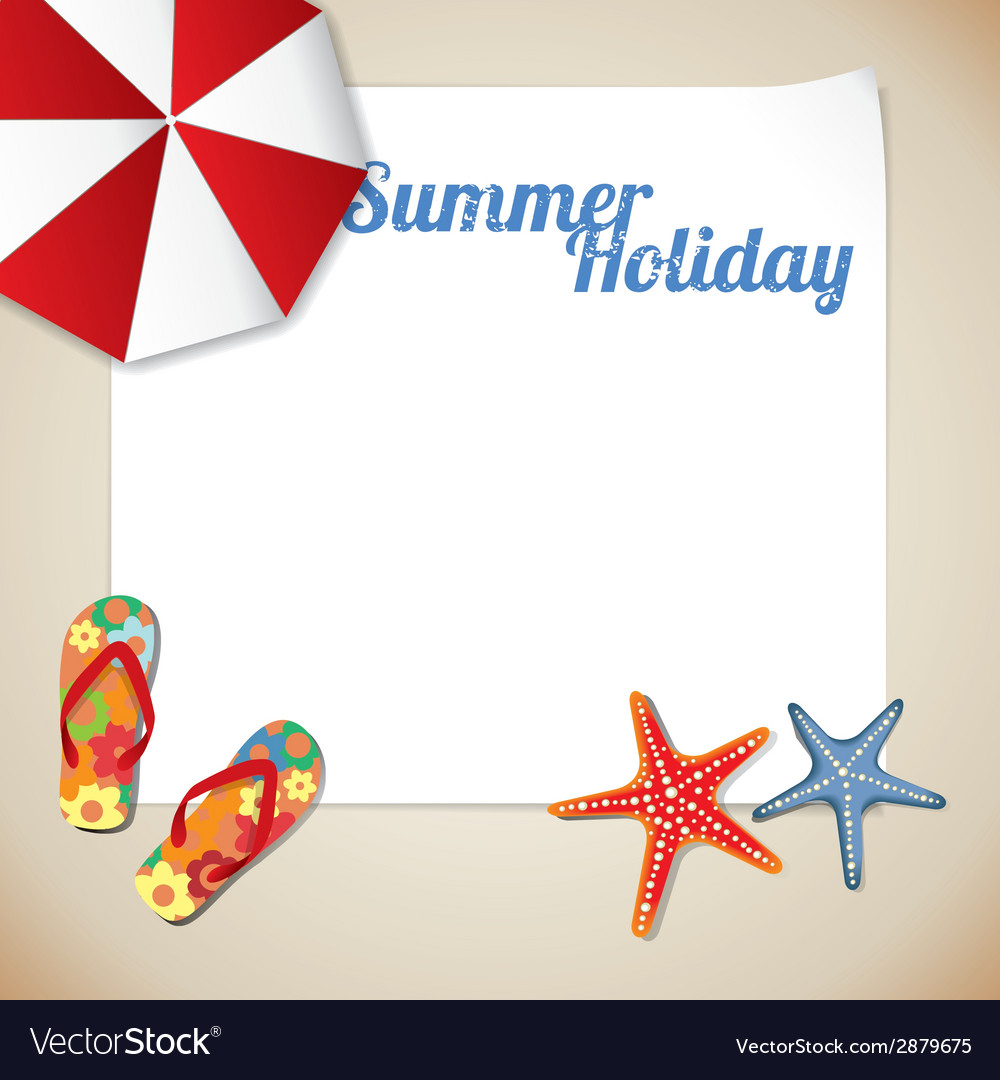 Summertime traveling template with beach summer ac vector | Price: 1 Credit (USD $1)