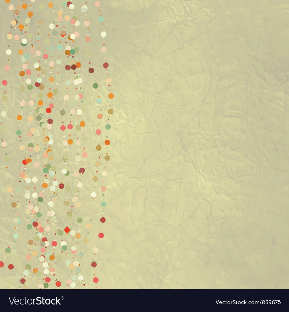 Vintage dots background vector | Price: 1 Credit (USD $1)