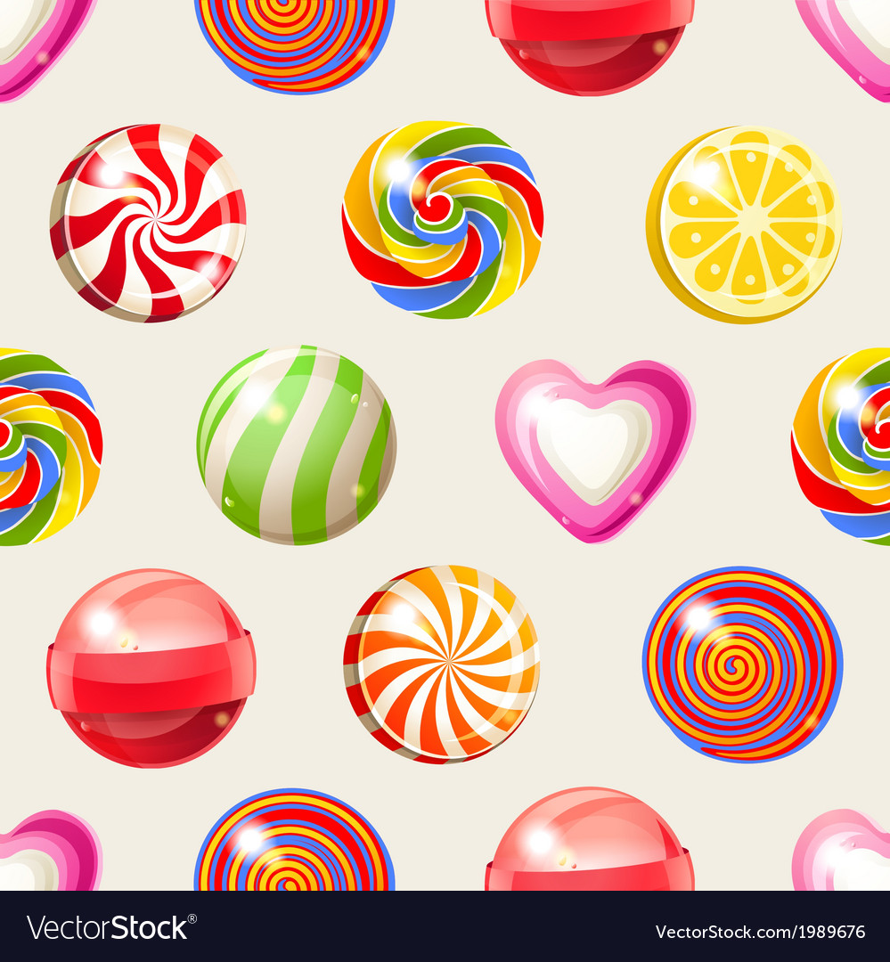 Candy seamless vector | Price: 1 Credit (USD $1)