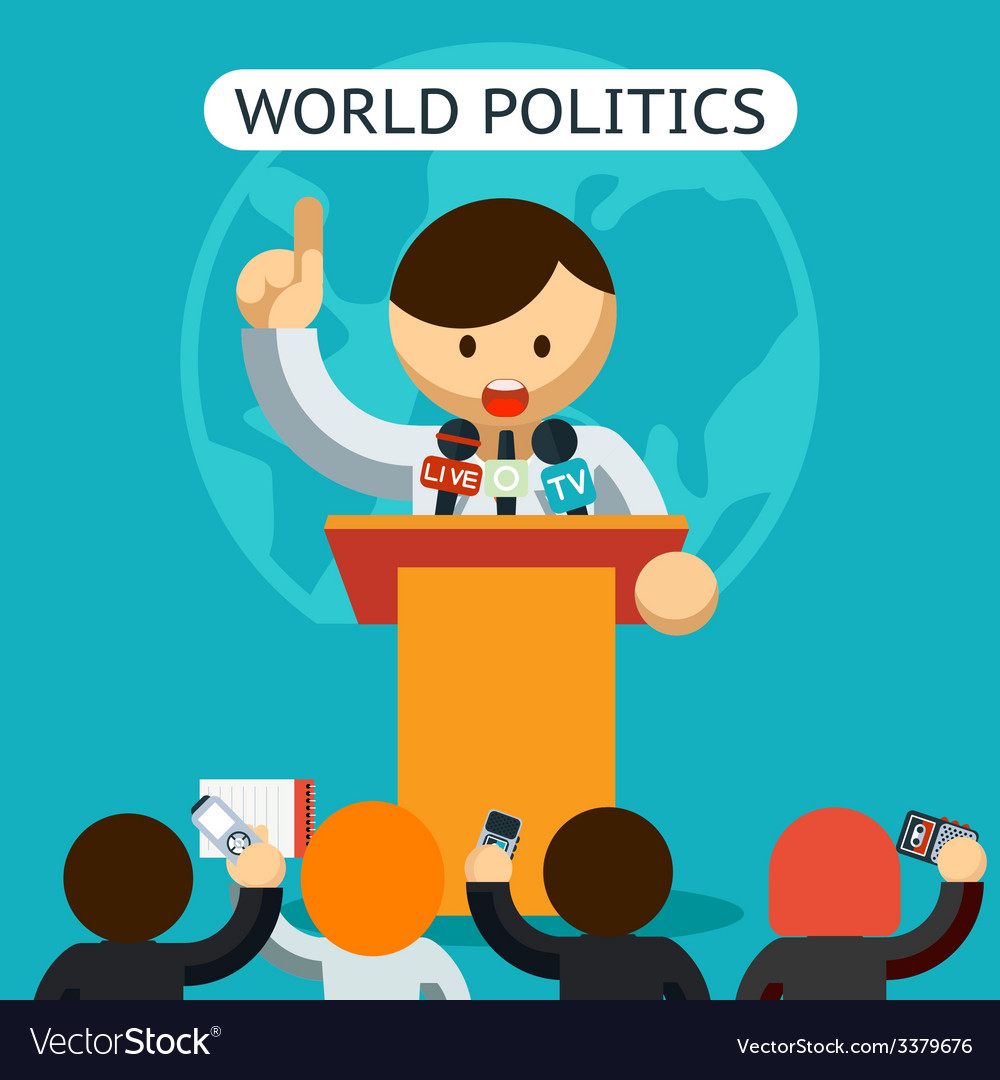 Cartooned world of politics concept vector | Price: 1 Credit (USD $1)