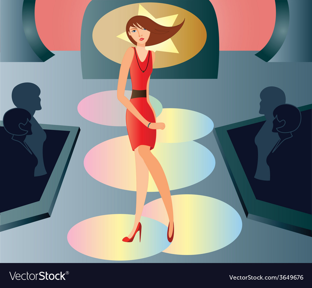 Catwalk-fashion vector | Price: 1 Credit (USD $1)