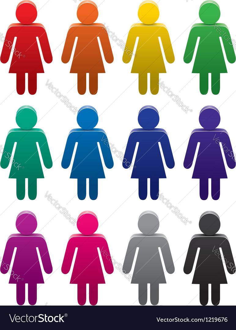 Female symbols vector   Price: 1 Credit (USD $1)