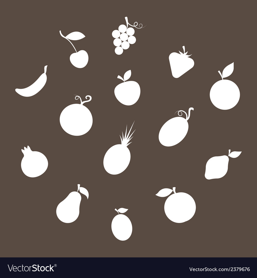 Fruit silhouettes vector | Price: 1 Credit (USD $1)