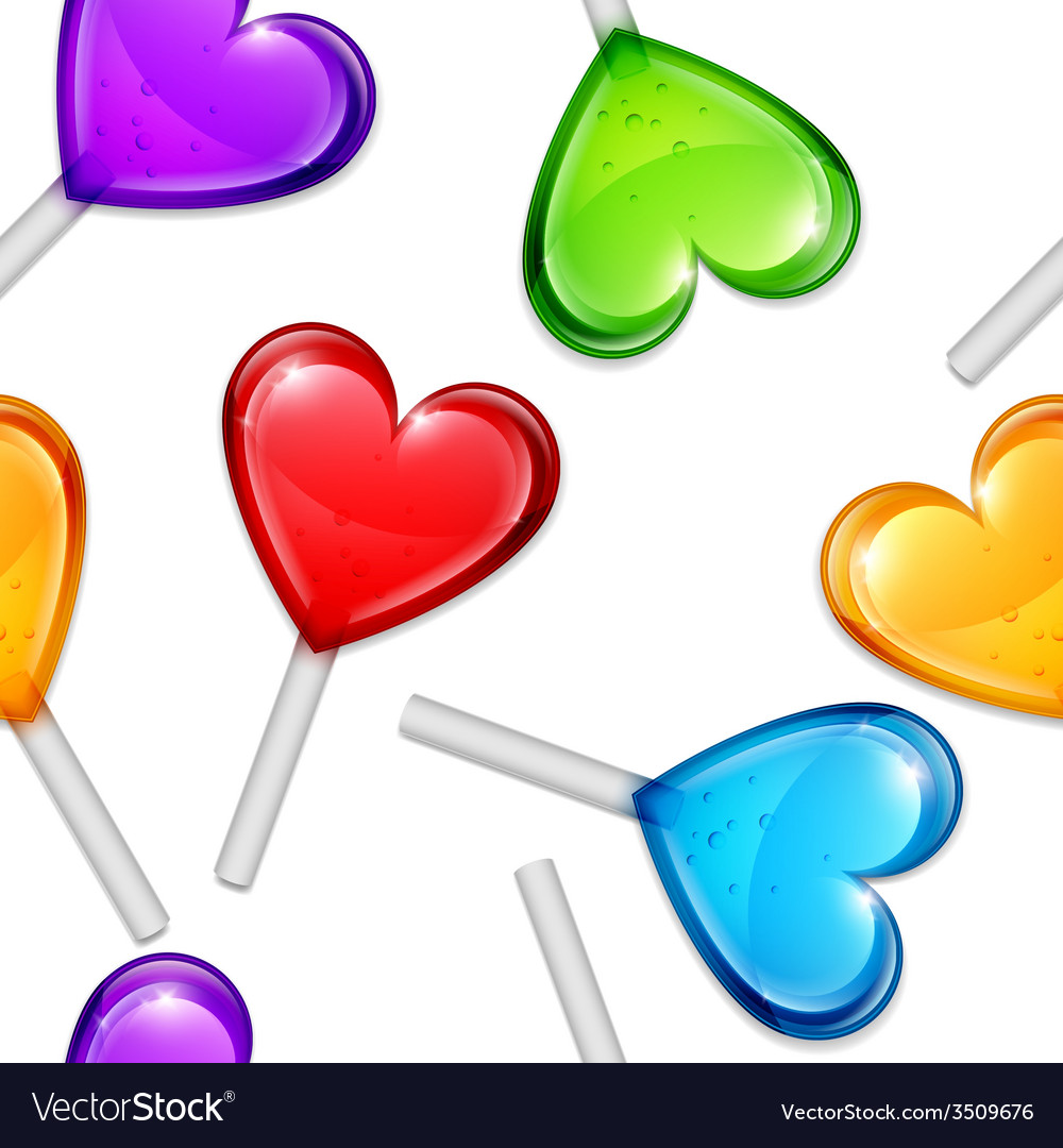 Heart lollipops pattern vector | Price: 1 Credit (USD $1)