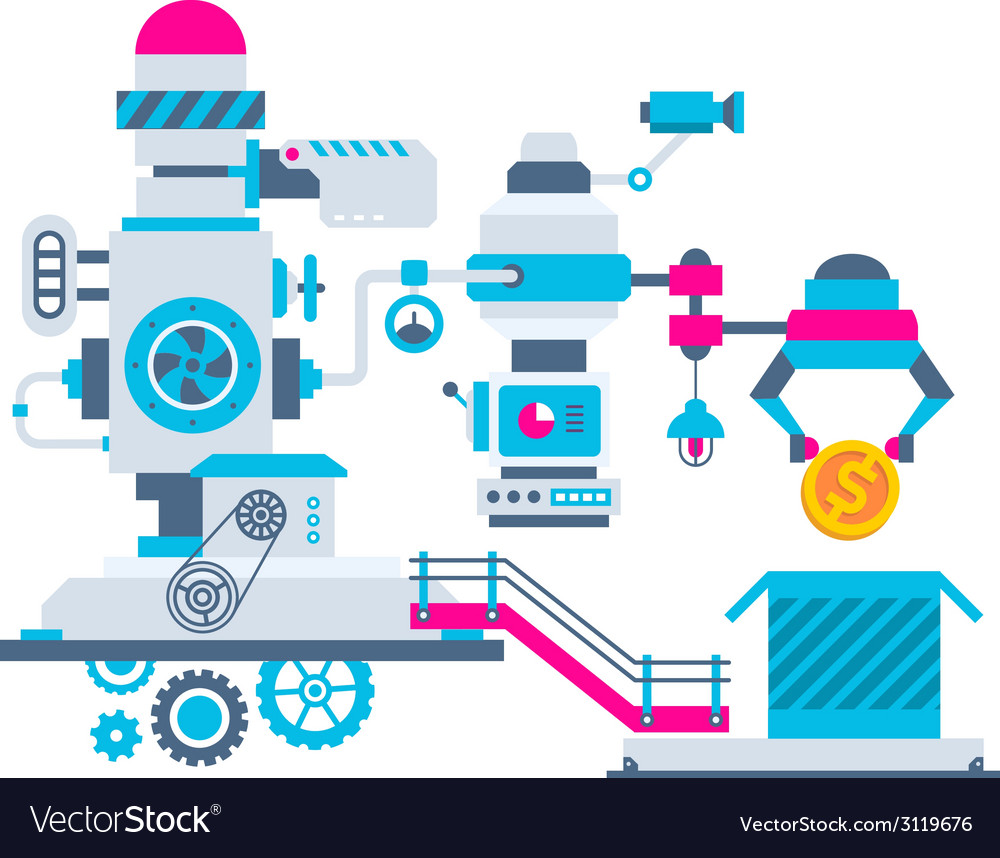 Industrial background of the factory for pac vector | Price: 1 Credit (USD $1)