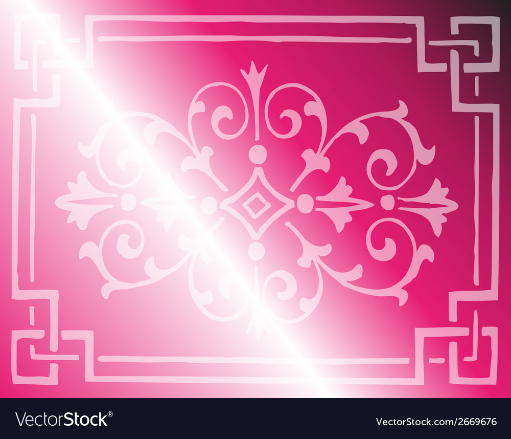 Light pink background design with floral border ve vector | Price: 1 Credit (USD $1)