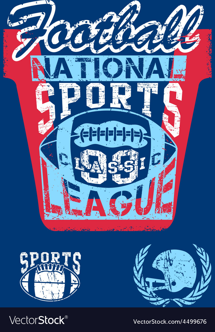 National football sports league vector | Price: 1 Credit (USD $1)