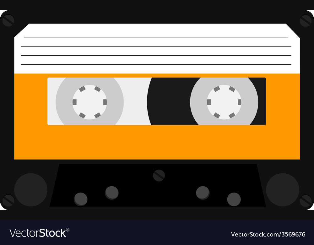 Orange cassete vector | Price: 1 Credit (USD $1)