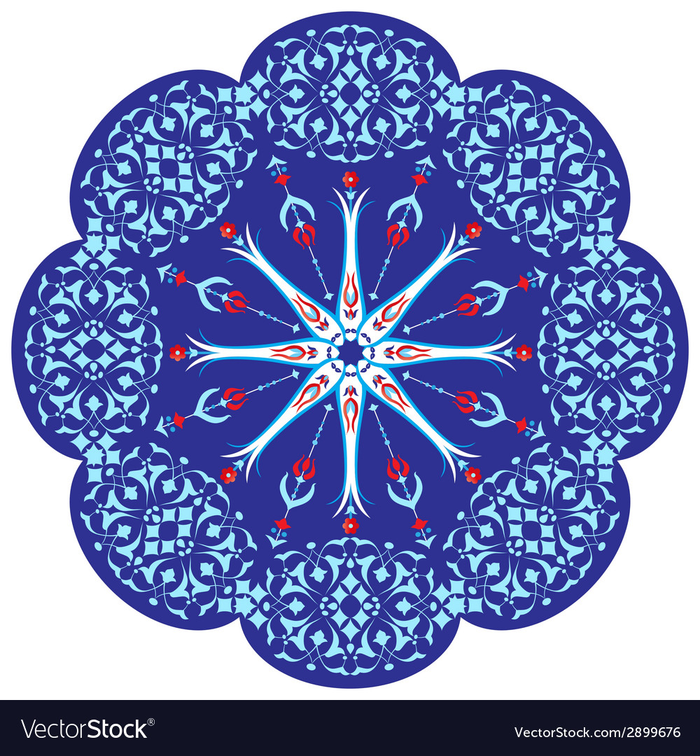 Ottoman motifs design series ninety two vector | Price: 1 Credit (USD $1)