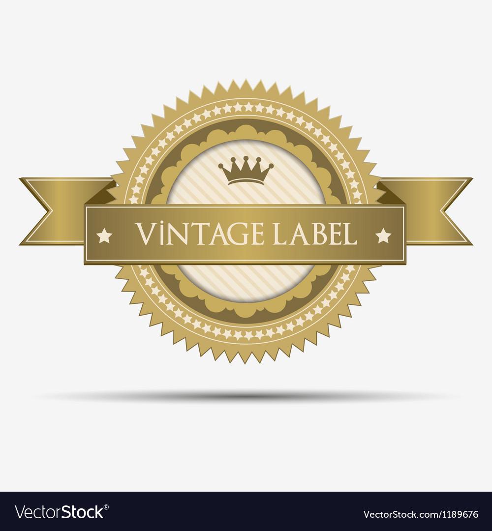 Retro vintage label vector | Price: 1 Credit (USD $1)