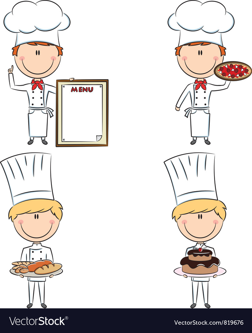 Smart cute chef men vector | Price: 3 Credit (USD $3)