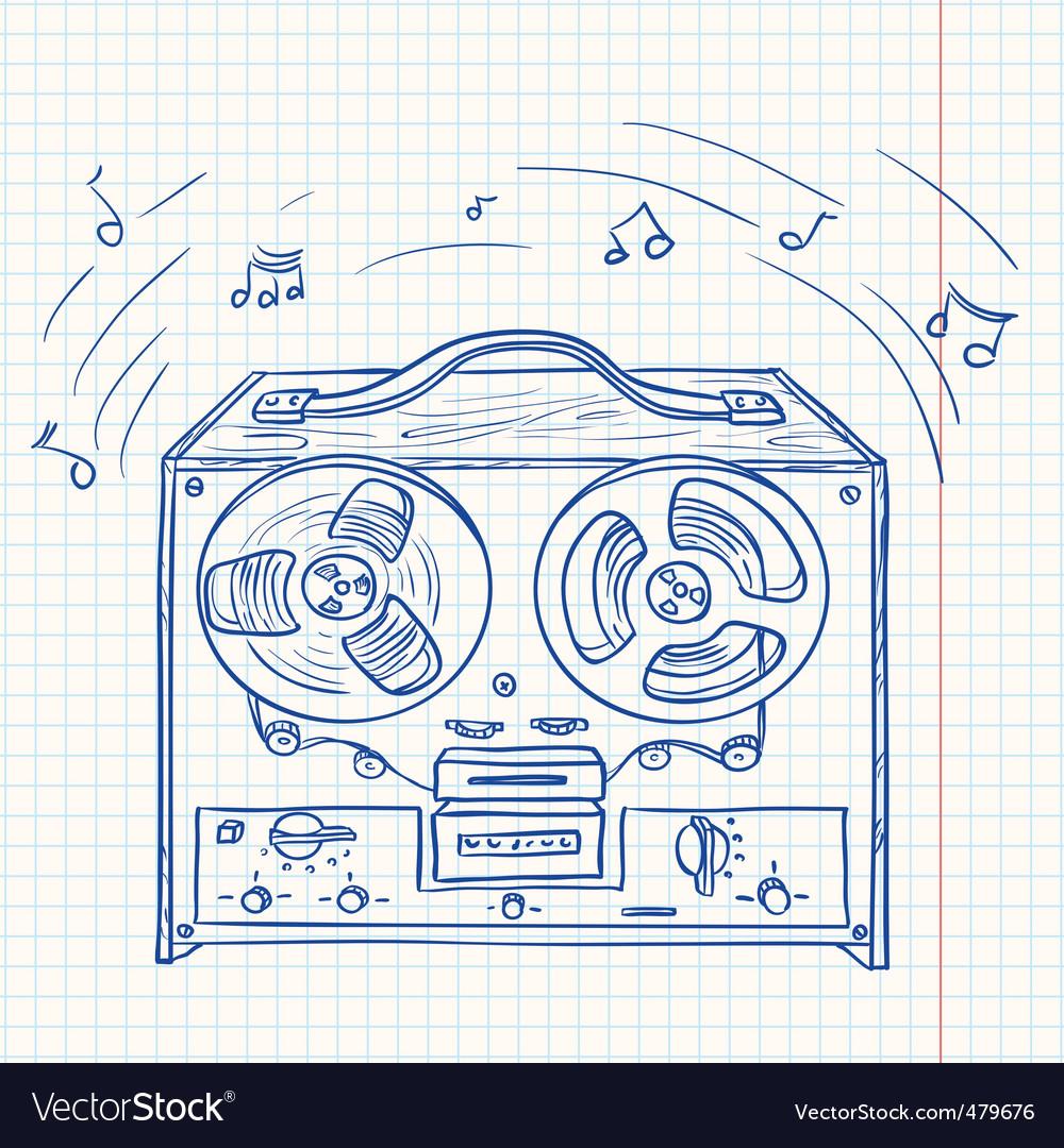Tape recorder vector   Price: 1 Credit (USD $1)