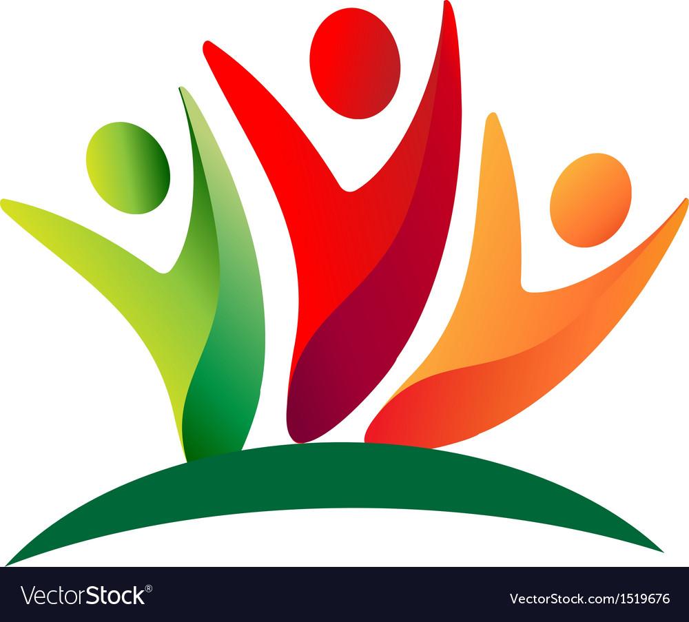 Teamwork people logo vector | Price: 1 Credit (USD $1)