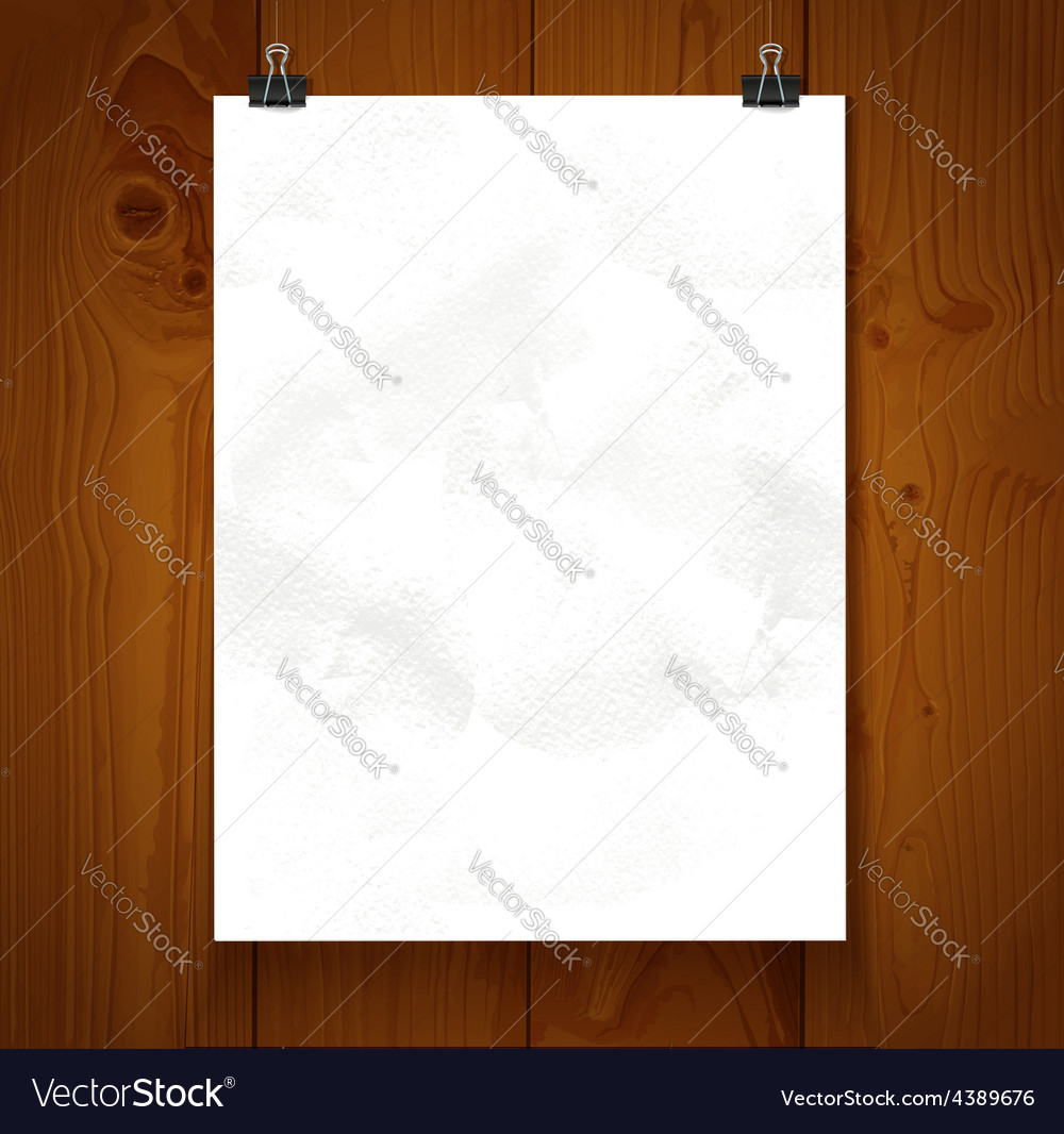White texture paper hanging on binder on a vector | Price: 1 Credit (USD $1)