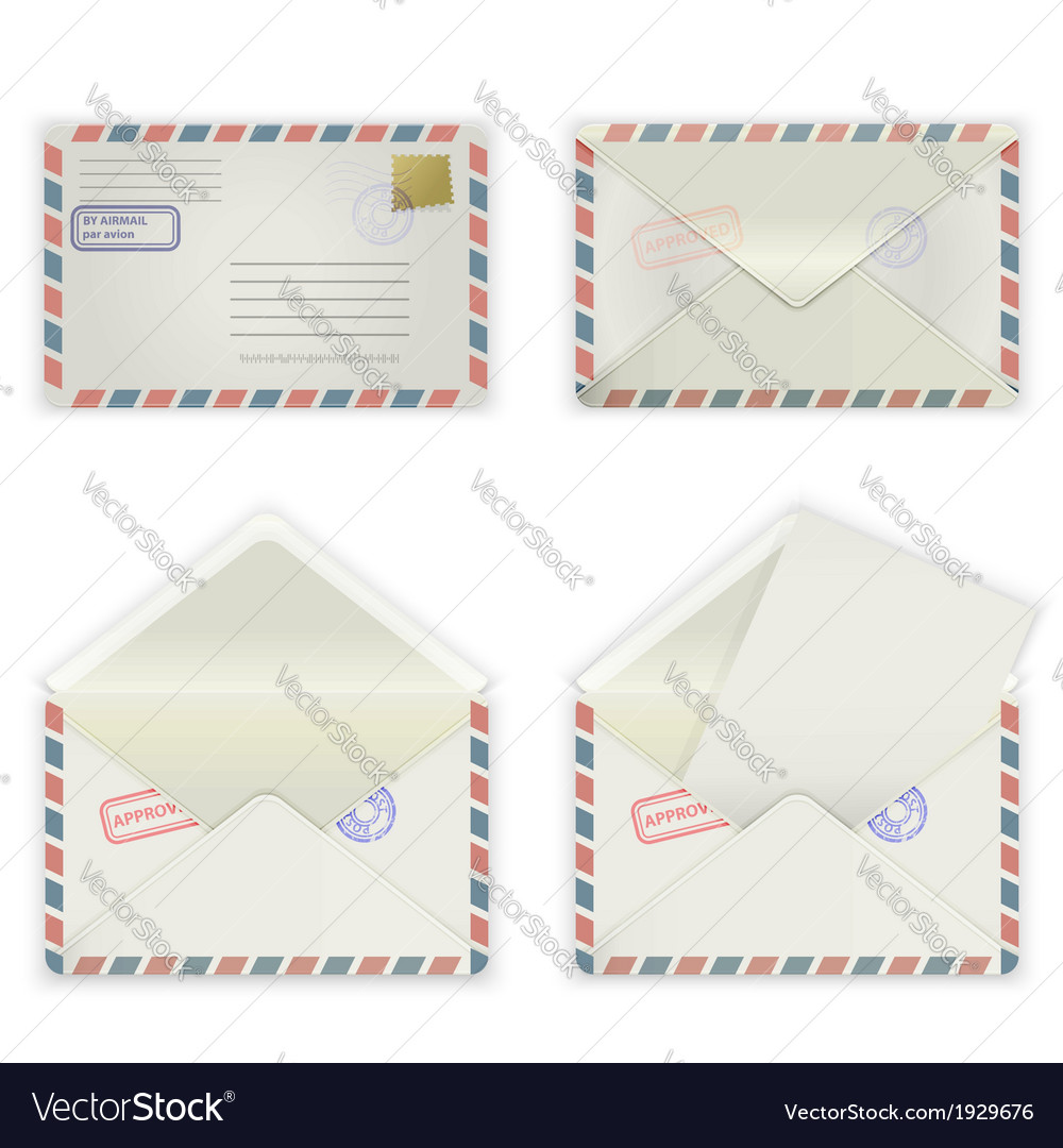 Wide envelope vector | Price: 1 Credit (USD $1)