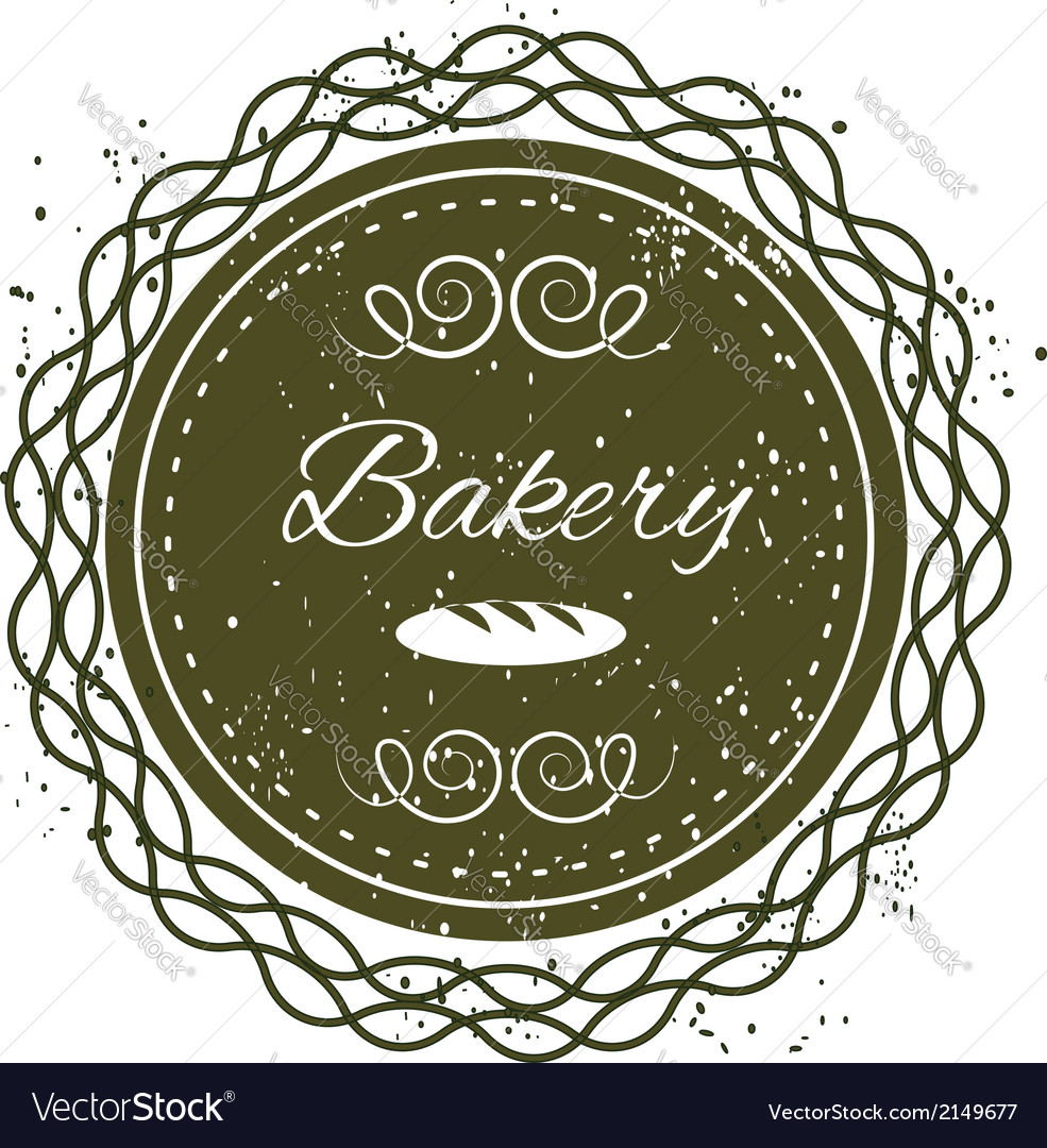 Bakery grunge badge label vector | Price: 1 Credit (USD $1)