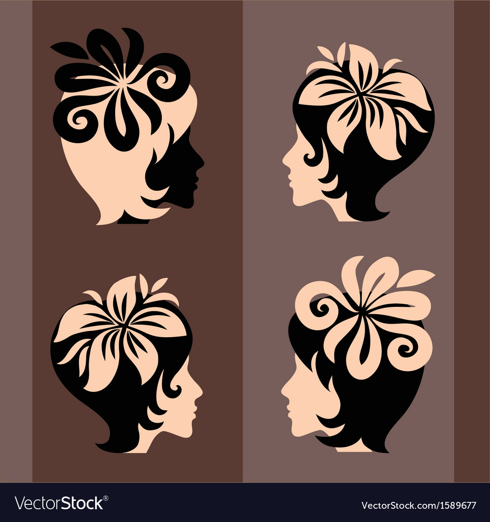 Beautiful art silhouette vector | Price: 1 Credit (USD $1)