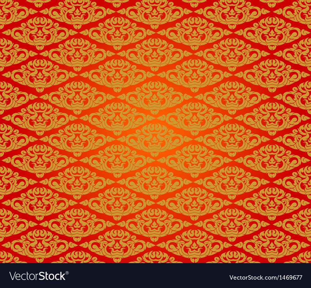 Beautiful asian art pattern red background vector | Price: 1 Credit (USD $1)