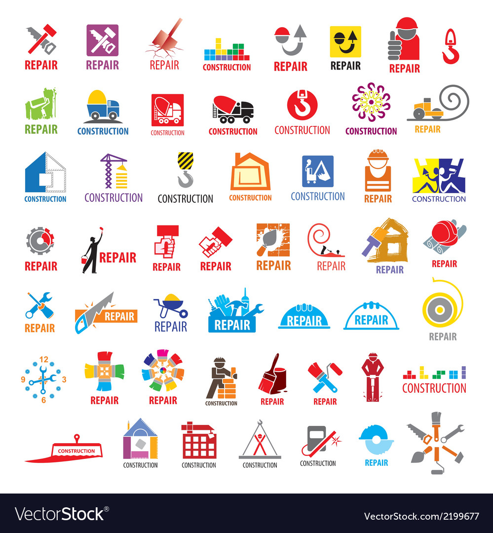Biggest collection of logos construction vector | Price: 1 Credit (USD $1)