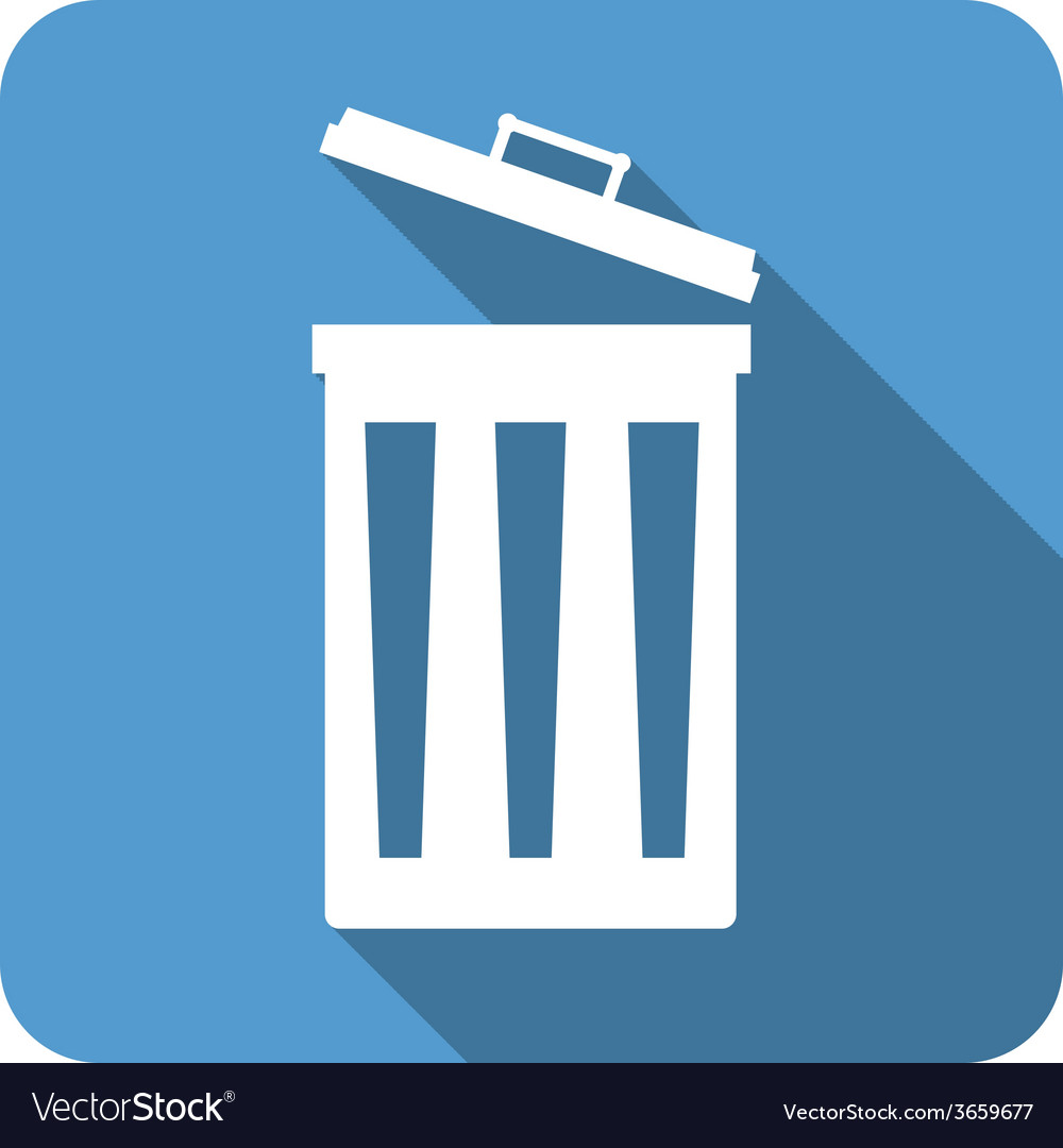 Bin flat icon2 open vector | Price: 1 Credit (USD $1)