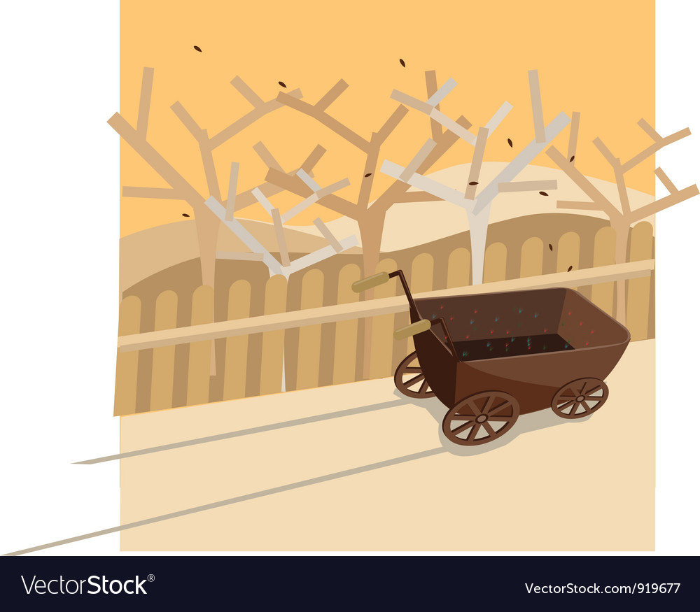 Colorful trolley in summer vector | Price: 1 Credit (USD $1)