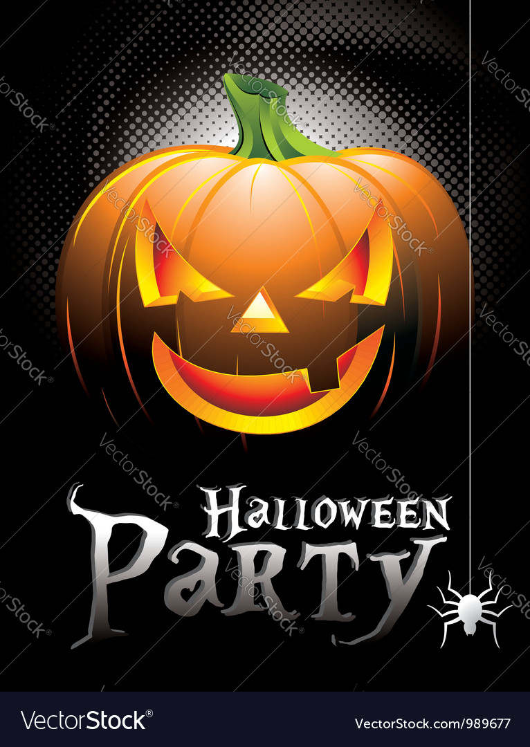 Halloween party background with pumpkin vector | Price: 3 Credit (USD $3)
