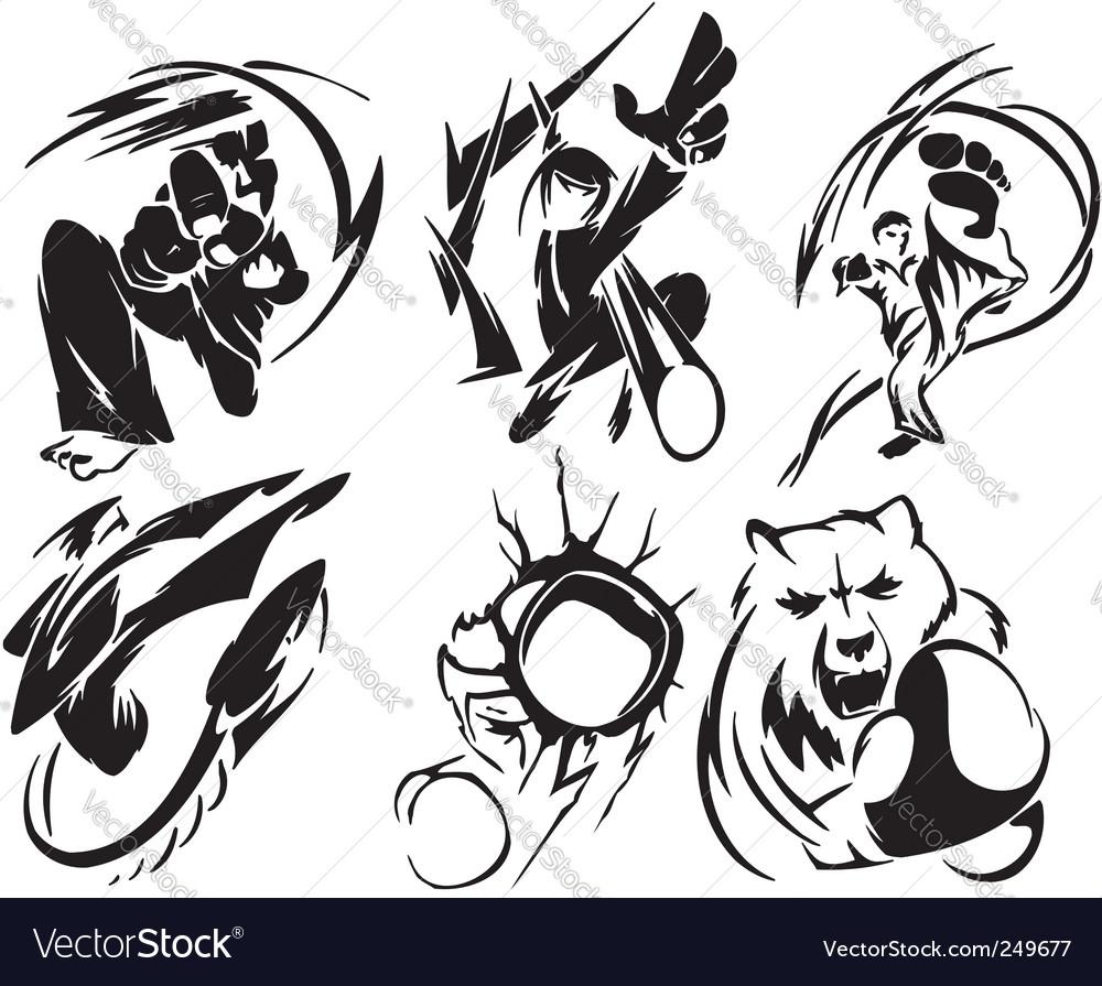 Karate sport vector | Price: 1 Credit (USD $1)