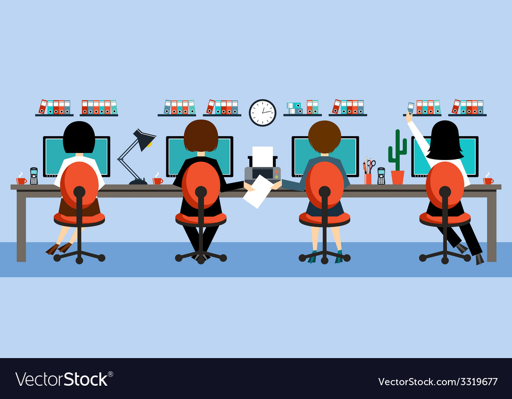 Office life vector | Price: 1 Credit (USD $1)