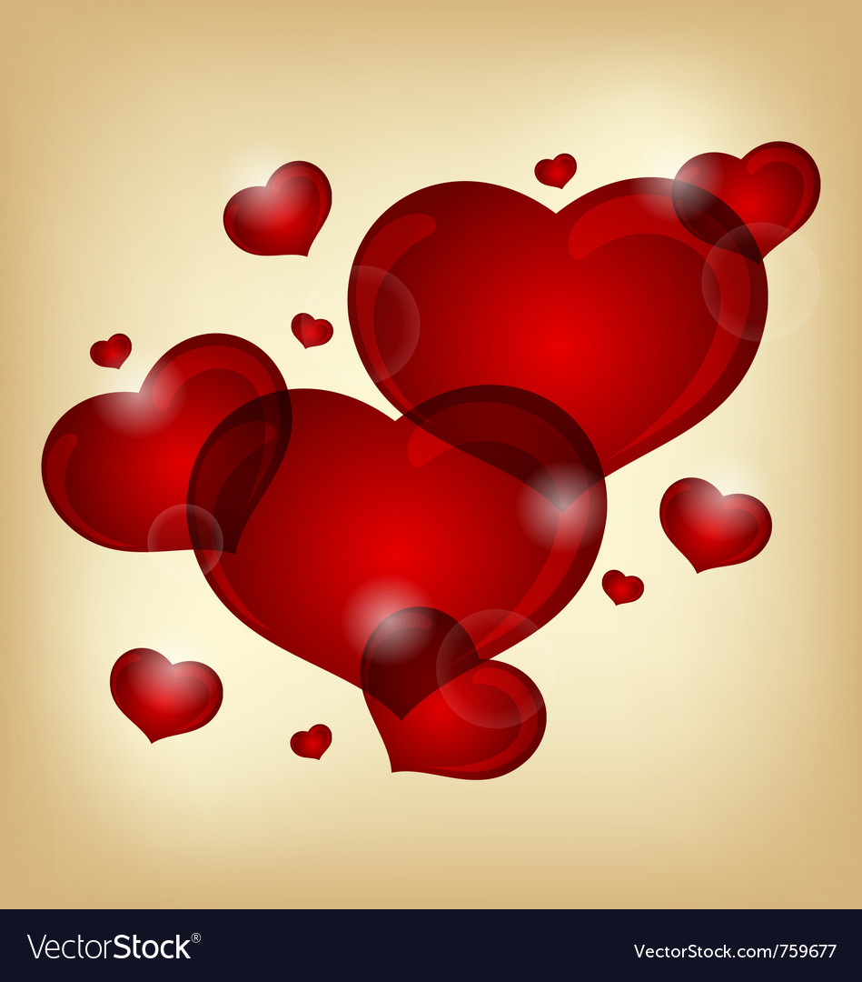 Set of valentine hearts - vector | Price: 1 Credit (USD $1)